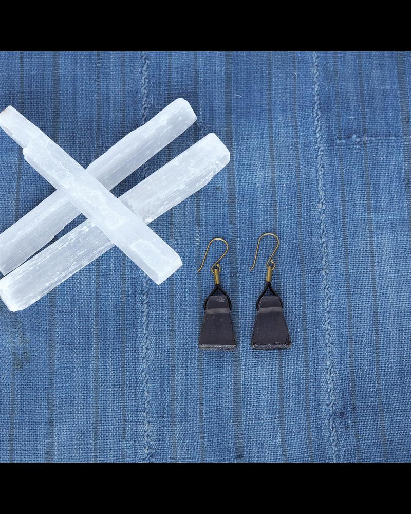 OraTen Nova Earrings, Black - Glass