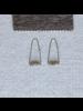 OraTen Ava Parabolic Arch Earrings, Brass - Labadorite