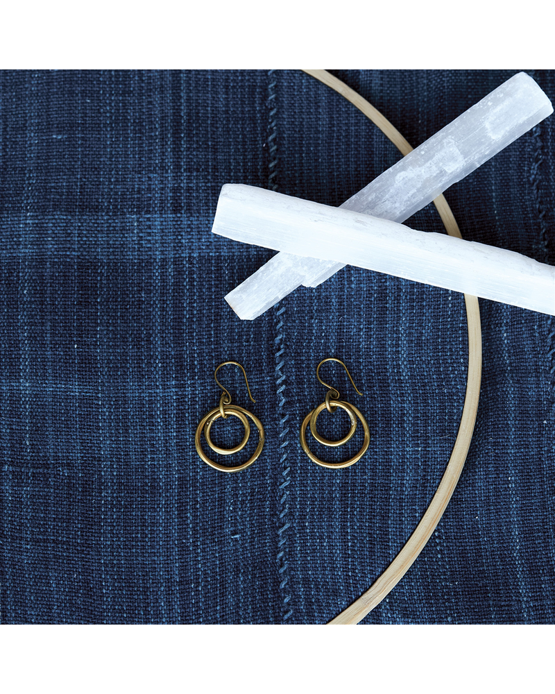 OraTen Gemini Earrings, Round, Sm - Brass - Brass