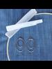 OraTen Gemini  Earrings, Oval, Large - Silver - Silver