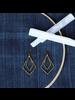 OraTen Gemini Earrings, Rhombus - Brass - Brass