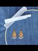 OraTen Orion Earrings, Arrow - Brass & Silver - Brass