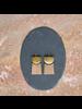 OraTen Gila Earrings, Brass & Wood Linked  - Arch & Trapezoid - Light Wood