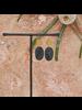 OraTen Leucadia Earrings, Brass & Horn  - Ovals - Dark Horn