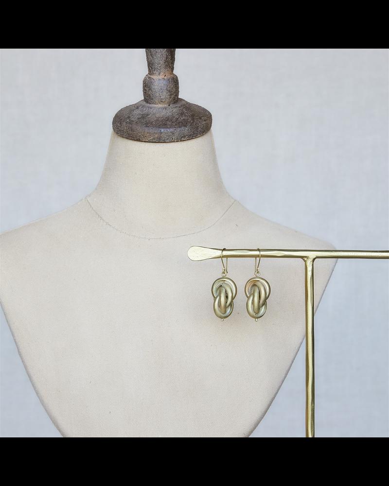 OraTen Julia Looped Earring - Lrg, Brass - Brass