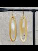 OraTen Banjar Floating Long Oval Earring - Light Horn, Brass