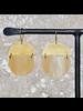 OraTen Malu Linked Circular Earring - Light Horn, Brass
