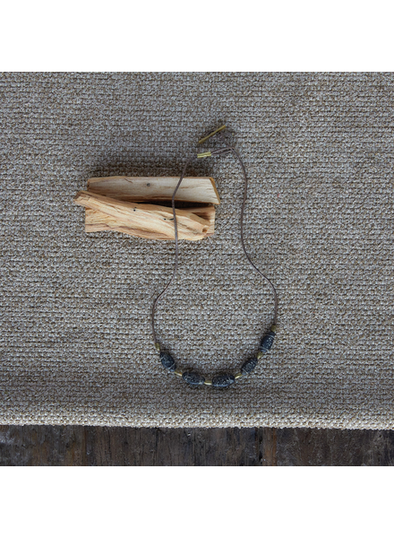 OraTen Amaranth Beaded Necklace - Black