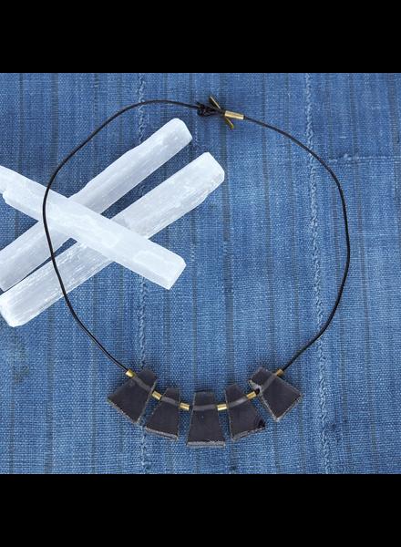 OraTen Nova Necklace, Black - Glass