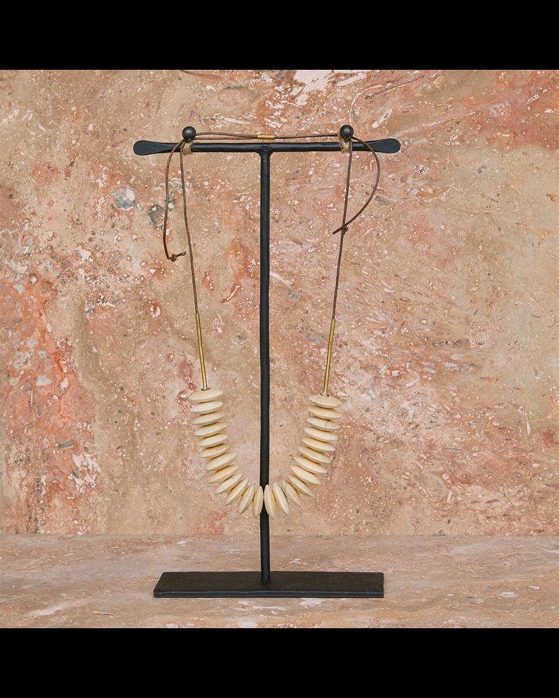 OraTen Gaviota Necklace, Wood Disk