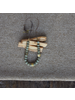 OraTen Cerro Necklace, Glass Bead & Brass - Sage Green