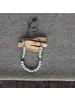 OraTen Cerro Necklace, Glass Bead & Brass - White