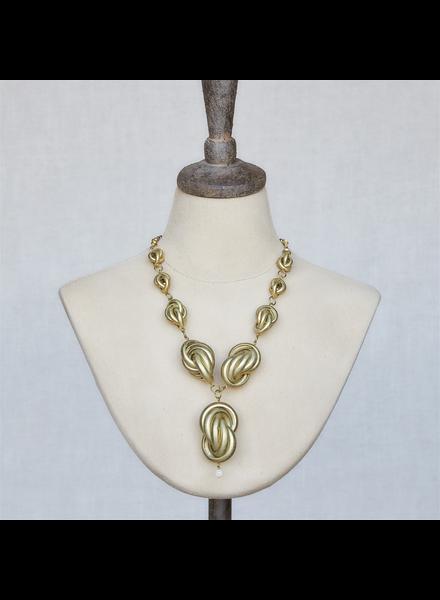 OraTen Julia Looped Necklace, Brass - Brass