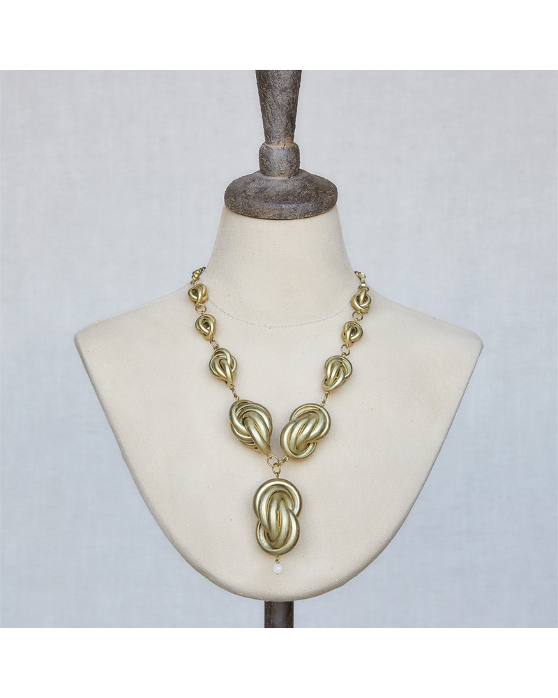 OraTen Julia Looped Necklace, Brass - Brass
