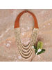 OraTen Obispo Necklace, Leather & Wood Bead