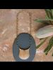 OraTen Muir Crest Pendant, Brass & Wood - Light Wood