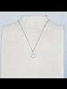 OraTen Lucille Pendant, Brass Heart Cab - Amazonite