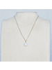 OraTen Lucille Pendant Necklace, Brass Heart Cab - Moonstone
