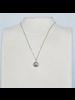 OraTen Lucille Pendant Necklace, Brass Heart Cab - Labadorite