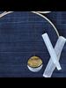 OraTen Moonrise Pendant - Round, Lrg -  Brass & Silver - Brass & Silver