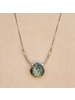 OraTen Mila Necklace with Faceted Stone - Turquoise