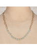 OraTen Angelina Necklace with Dangling Stones - Amazonite