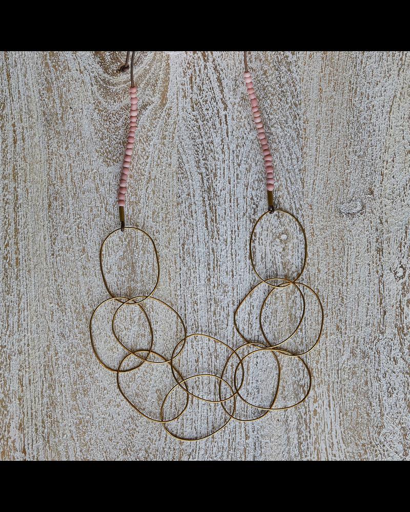 OraTen Lombok Organic Link Necklace - Pink