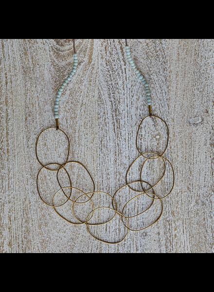OraTen Lombok Organic Link Necklace - Aqua