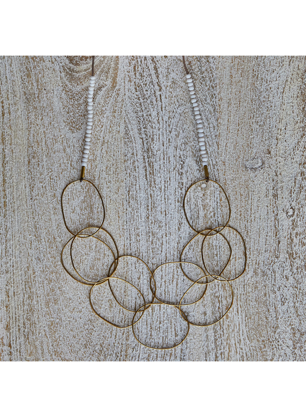 OraTen Lombok Organic Link Necklace - White