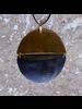 OraTen Malu Linked Circular Pendant - Dark Horn, Brass