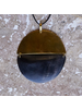 OraTen Malu Linked Circular Pendant Necklace - Dark Horn, Brass