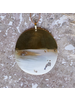 OraTen Malu Linked Circular Pendant Necklace - Light Horn, Brass