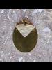 OraTen Padang Linked Oval Pendant Necklace - Light Horn, Brass