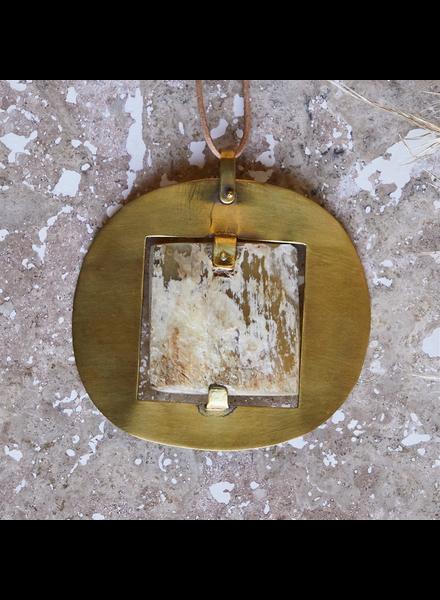 OraTen Sumatra Pendant with Square Horn - Light Horn, Brass