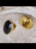 OraTen Brass Bezel Set Ring - Horn