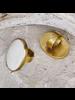 OraTen Brass Bezel Set Ring - Bone