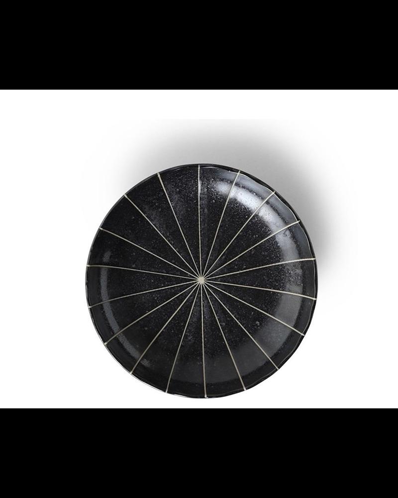 "Miya Company Kasa Black 6.5"" Plate"
