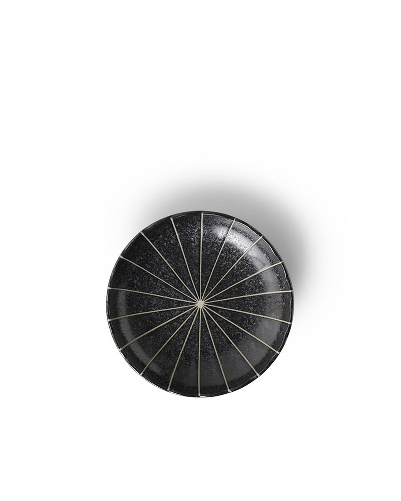 "Miya Company Kasa Black 4.75"" Plate"