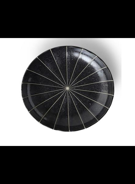 "Miya Company Kasa Black 9.5"" Plate"