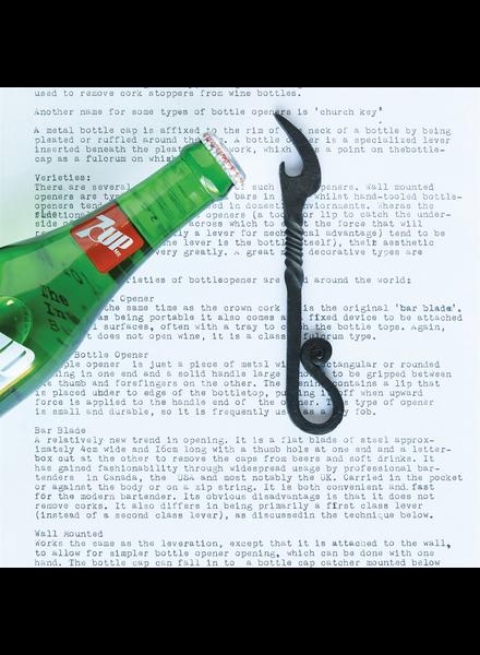 HomArt Turned Forged Bottle Opener, Iron - Black
