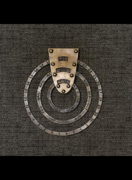 HomArt Perpetual Circular Calendar, Brass - Brass