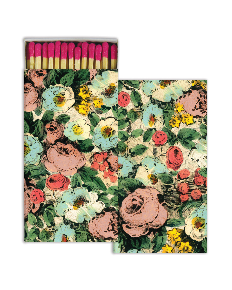 HomArt Floral Collage HomArt Matches - Set of 3