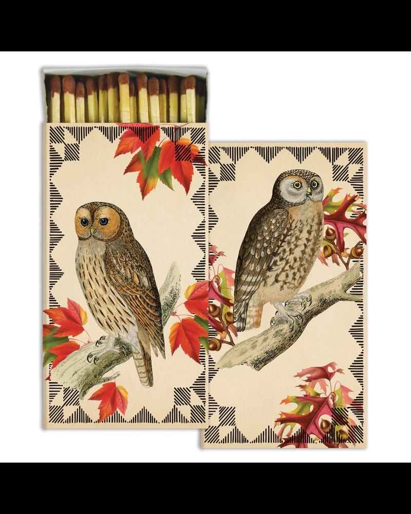 HomArt Autumn Owls HomArt Matches - Set of 3