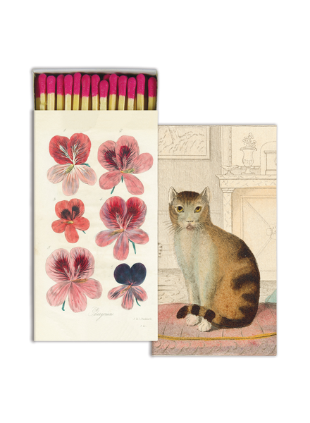 HomArt Pelargonium & Calm Cat HomArt Matches - Set of 3