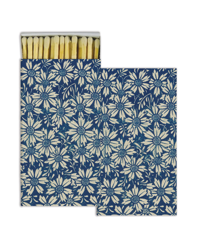 HomArt Blue Daisies HomArt Matches - Set of 3