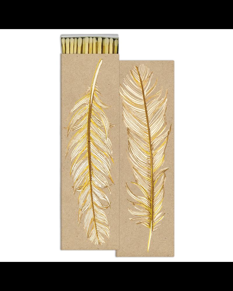 HomArt Ruffled Feather - Gold Foil HomArt Matches - Set of 2