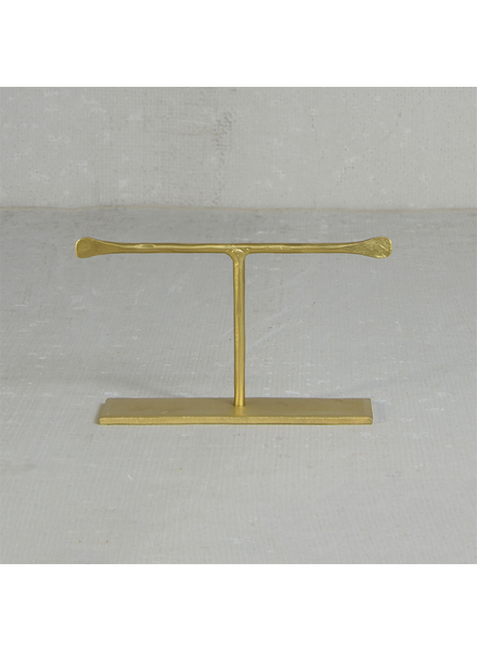 HomArt Maddox Forged Iron Jewelry T Stand - Short 4 - Brass