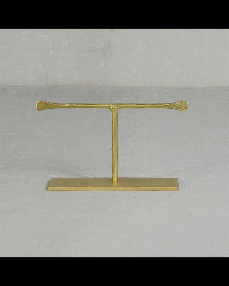 HomArt Maddox Forged Iron Jewelry T Stand - Short 4 - Brass