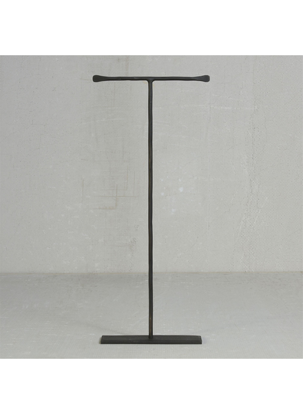 HomArt Maddox Forged Iron Jewelry T Stand - Extra Tall 16 - Black