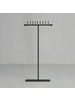 HomArt Maddox Forged Iron Jewelry T Stand With Pegs - 14 - Black